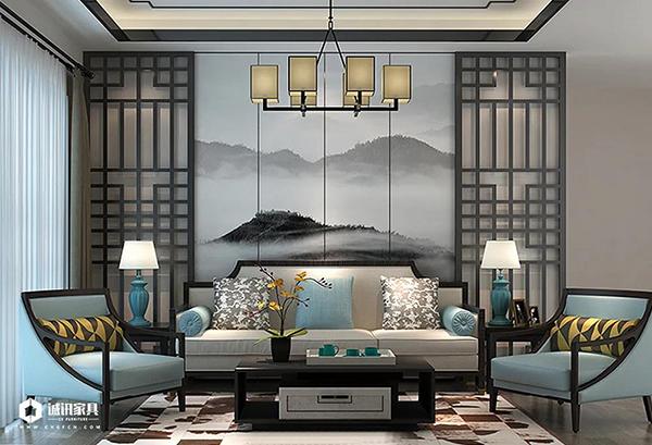 重庆优德W88体育w88优德官网:新中式系列全屋定制沙发背景墙