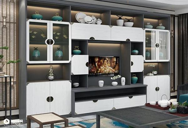 重庆优德W88体育w88优德官网:新中式系列全屋定制电视柜