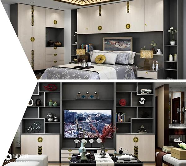 重庆优德W88体育w88优德官网:新中式系列全屋定制卧室客厅